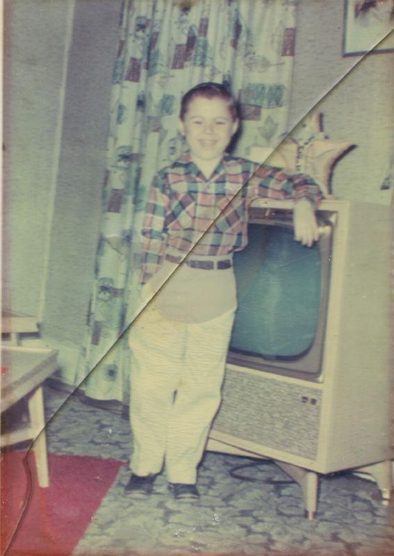 around 1957, photo stuck to glass will not seperat...