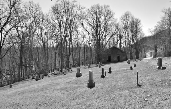 Old Mt. Zion Cemetary, south of Vevay, Indiana...