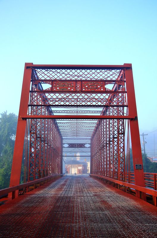 The George Street Bridge in Aurora, Indiana...
