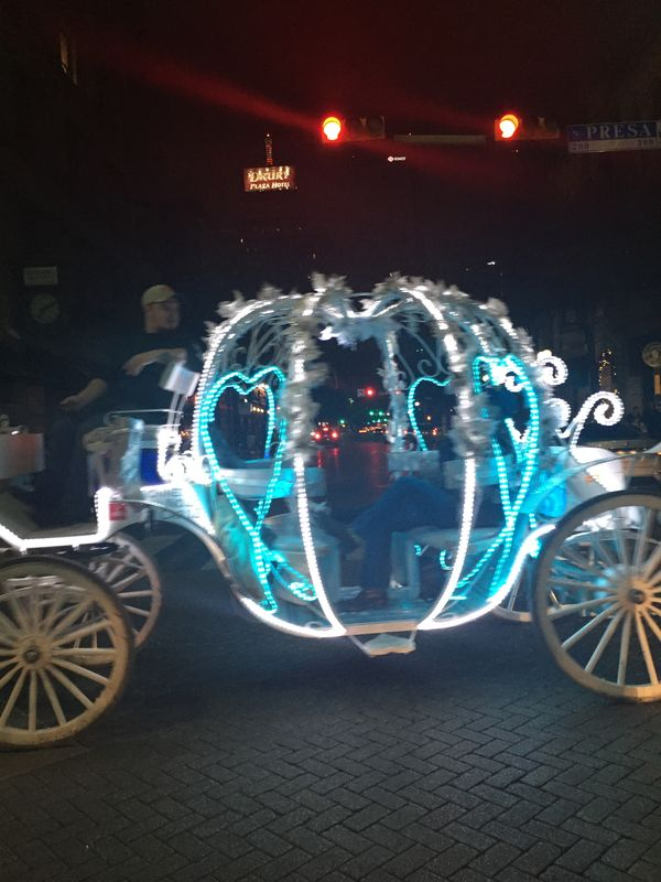Found this carriage all lit up down town last Tues...