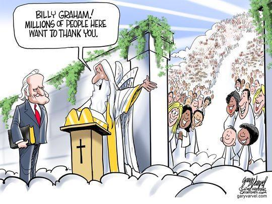 Billy Graham Enters The Pearly Gates