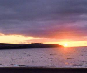 loch at sunset...