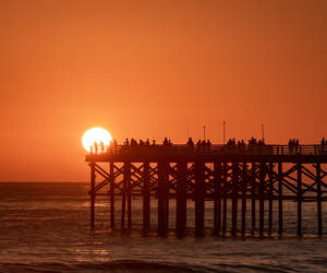 Sun with the pier with my 300 on a D750....