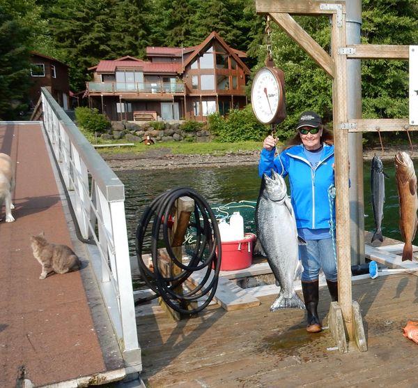My best friend w/ big king salmon AK JUL 2019...