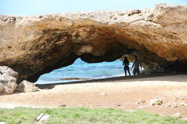 This one's a natural bridge in Aruba......