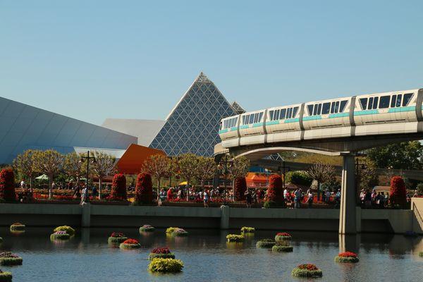 Monorail bridge at Epcot Disney...