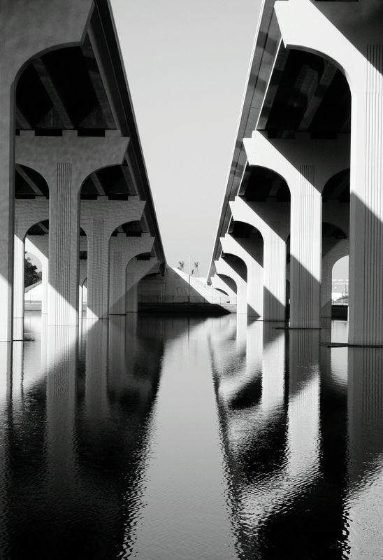 I love the underneath side of bridges!...