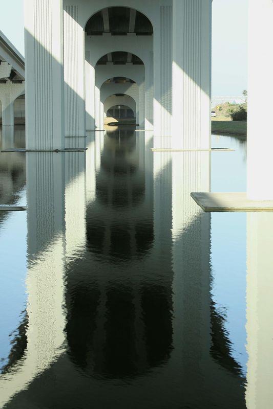 Under the bridge....
