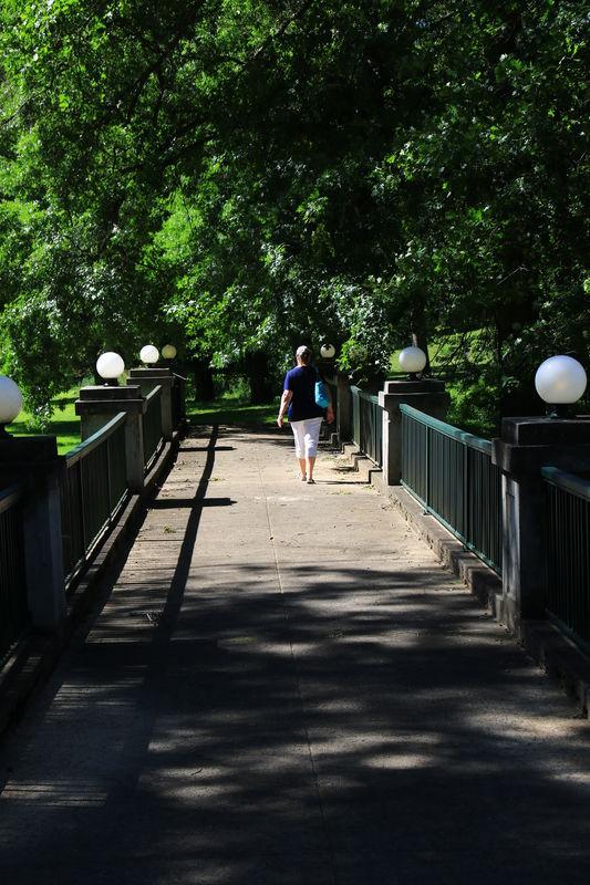 pedestrian bridge at French Lick Resort,, In....