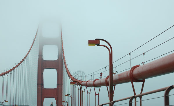 Golden Gate through windshield...