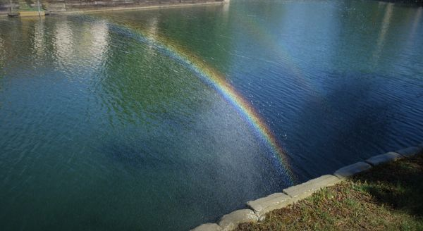 (2) Caught a Rainbow Bridge at our place in May of...