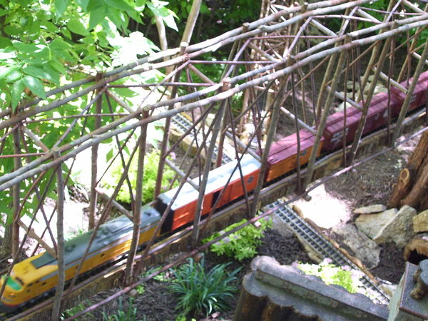 From Miniature Train at Lauridsen Gardens - Bridge...