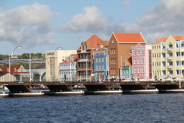 This unusual bridge in Curacao would swing entirel...