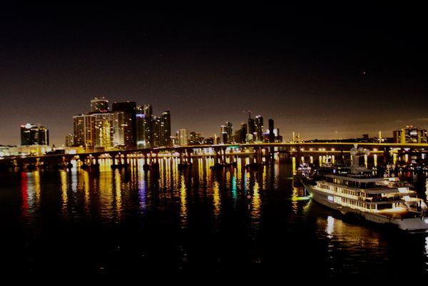 Bridges coming into the Port of Miami...