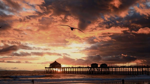 Surf City Pier Sunset 1-31-19...