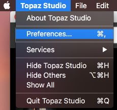 Processing times for Topaz Sharpen AI
