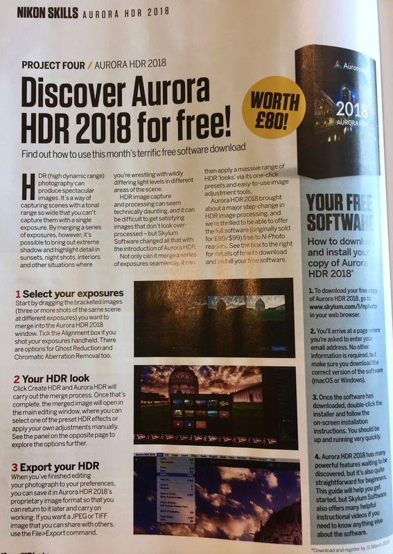 Skylum's Aurora HDR free til March 31