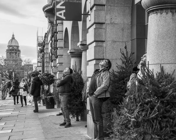 Gazing up at the Suicide Drop, Edinburgh...