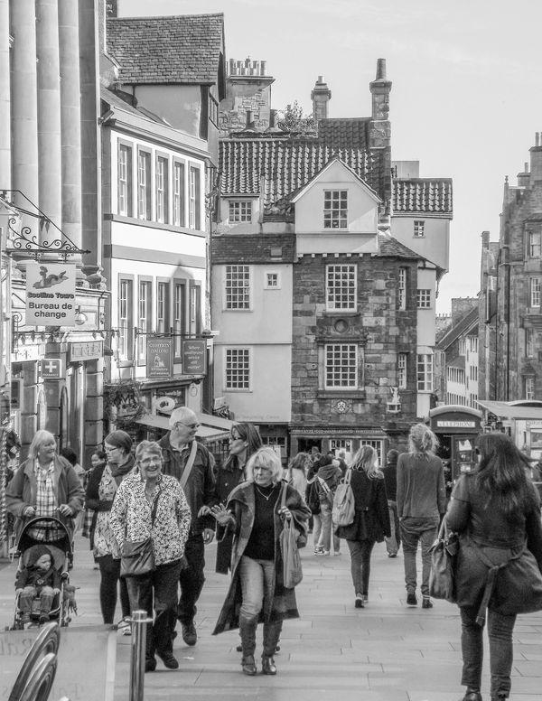 A crowd on the Royal Mile, Edinburgh - taken in 20...