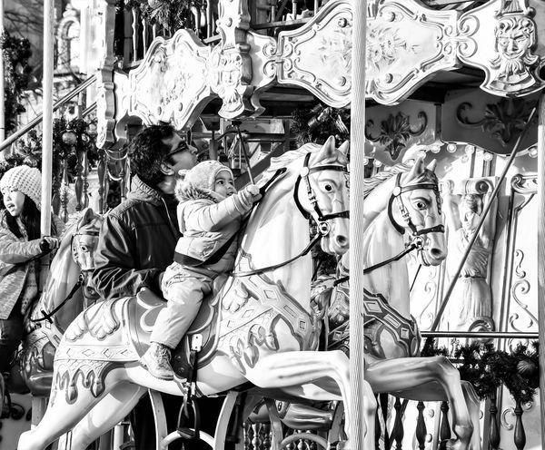Joy is a carousel horse!...