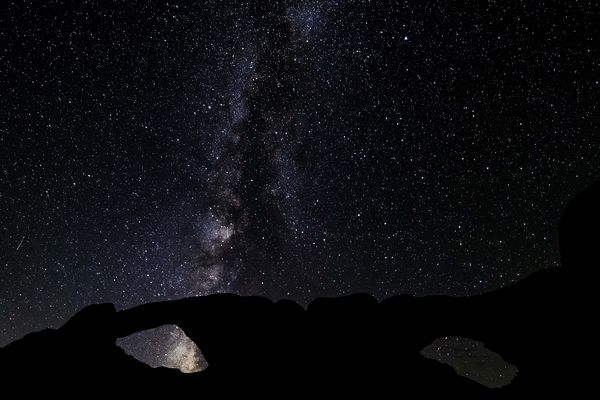 The Milky Way Over Double Arch...