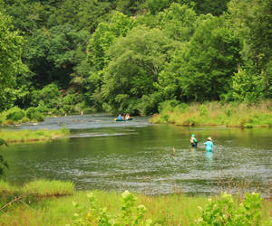 Waders and Canoers on The Mountain Fork River...