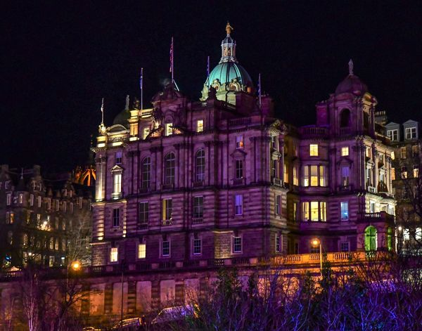 The back of the former Bank of Scotland, now the M...