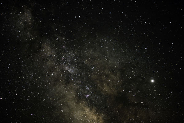 Portion of the Milkyway, we were on a cliff and it...