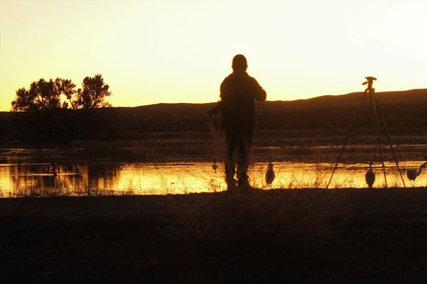 solo photographer at sunset...