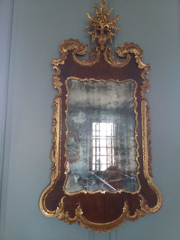 This mirror is REALLY old and very clouded...