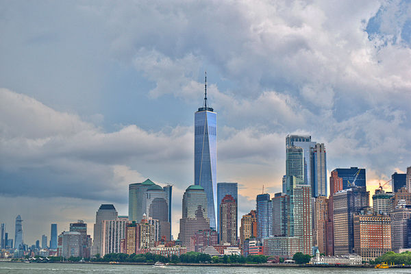 Skyline from the Statue Of Liberty...