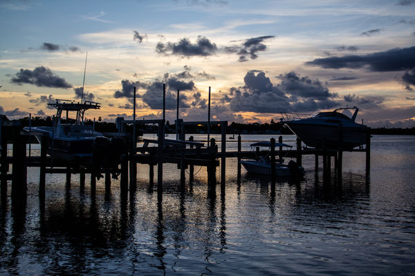 A bay scape taken at a marina in Key West...