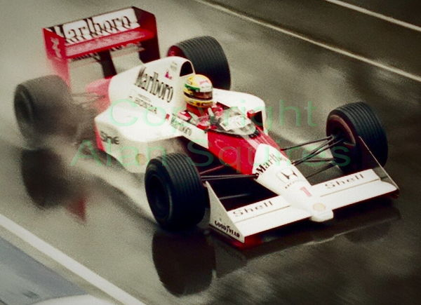 "A scan of a colour negative of ""Ayrton Senna Pilot..."