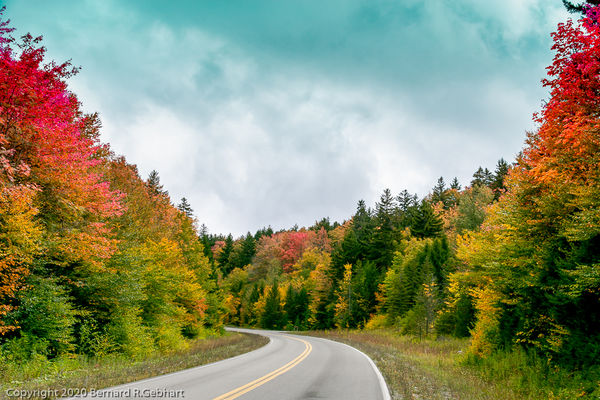 WV Route 150, the Highland Scenic Highway, climbs ...