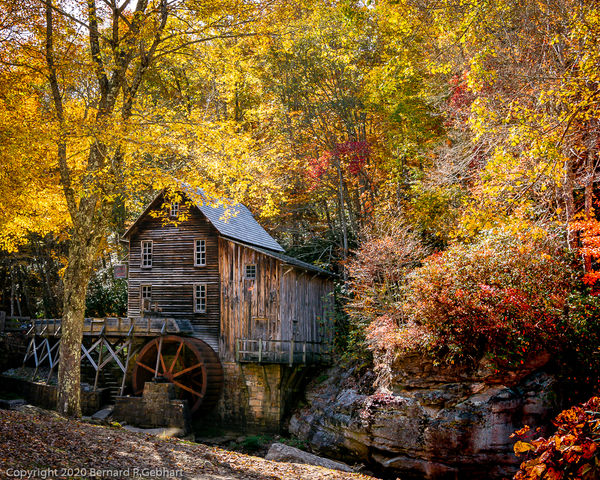 The iconic Glade Creek Grist Mill, one of West Vir...