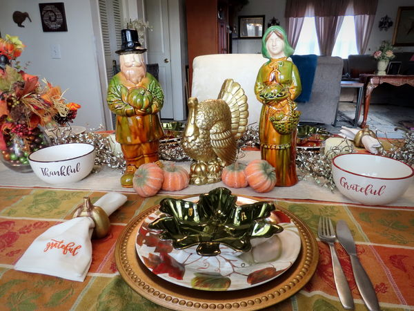 My table setting for Thanksgiving....