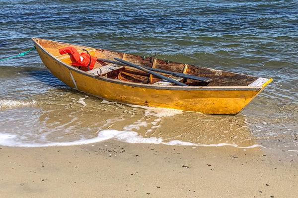 No wonder he rowed it ashore......