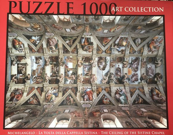 Ceiling of the Sistine Chapel in 1000 pieces....