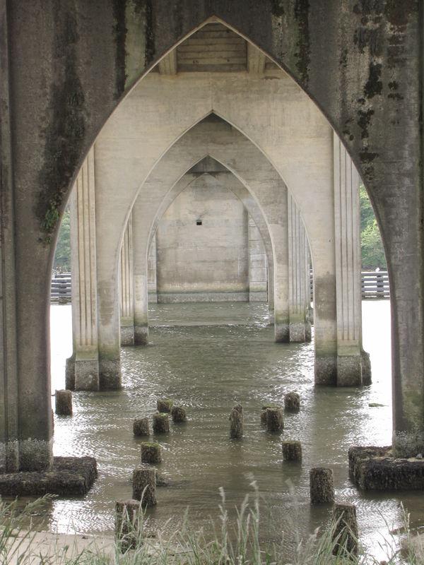 Under the bridge, Florence Oregon...