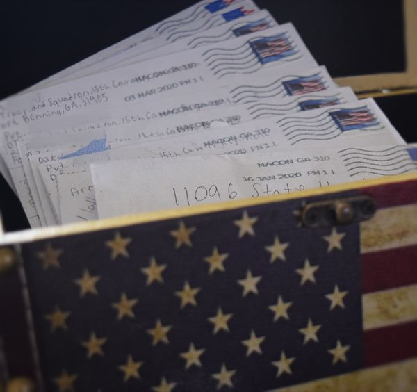 Letters from Boot camp. I keep all his letter in t...
