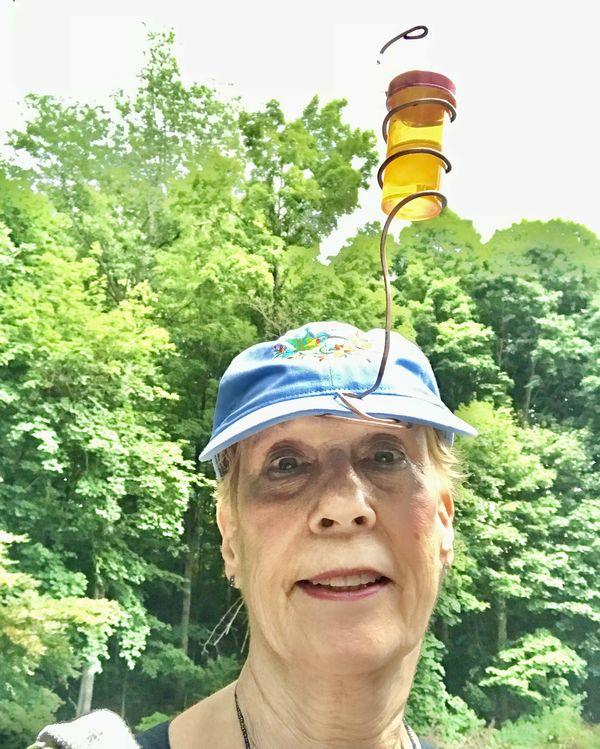 Mother's Day humming bird hat from Rachel!...