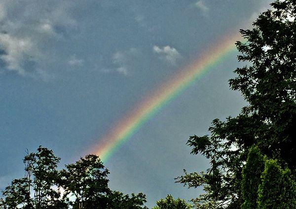 Rainbow over our house!...