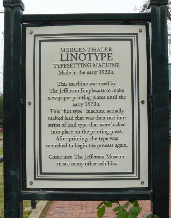 Next to The Original Linotype....