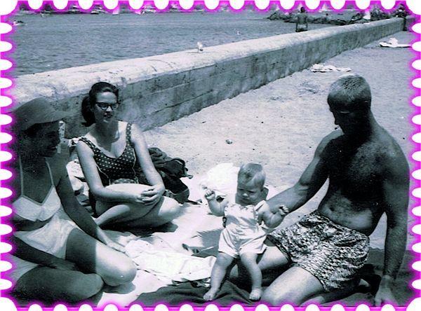 Nana, Mom, Me and Dad at Venis Beach early summer ...