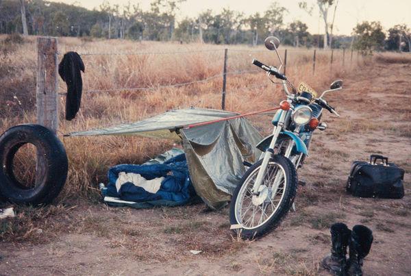 #1 Winter 1970 - overnight camping on the way to U...