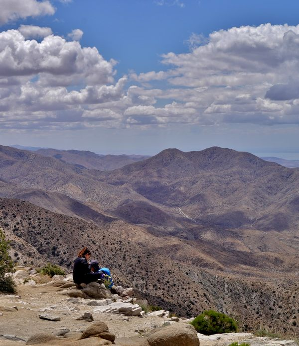 An overlook from a highpoint in Joshua Tree NP...