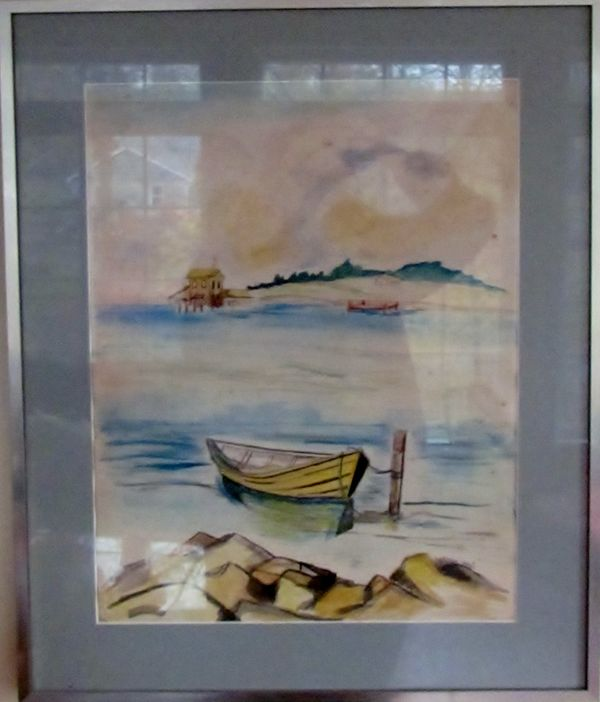 a water color I did (with reflection)at least 40 y...