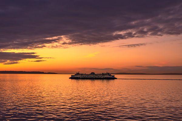 Puget Sound at dusk...