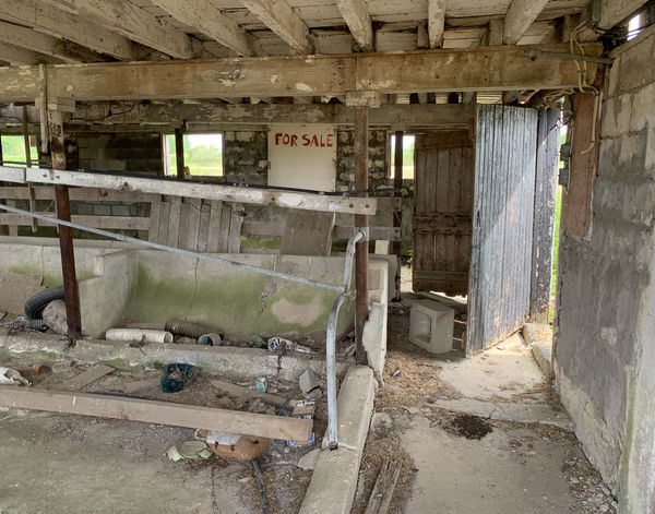 What was left of the stalls, I can remember standi...