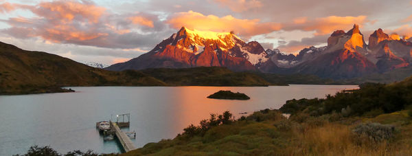 Sunset, Torres del Paine, Chile...